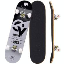 """Sumeber Skateboards for Girls Beginners 31"""" x 8"""" Inch Complete Standard Skateboard Double Kick Skate Boards with 7 Layers Canadian Maple Wood Deck Skateboard for Kids Birthdays Gifts"""