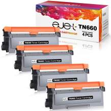 ejet Compatible TN660 Toner Cartridge Replacement for Brother TN660 TN-660 TN630(4-Black) for HL-L2340DW HL-L2300D HL-L2380DW MFC-L2700DW L2740DW DCP-L2540DW L2520DW HL-L2320D MFC-L2720DW L2740DW