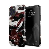 BURGA Phone Case Compatible with iPhone 11 PRO - Red Black and Gold Military Marble Camo Camouflage Cute Case for Women Thin Design Durable Hard Plastic Protective Case