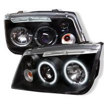 Spyder Auto PRO-YD-VJ99-CCFL-BK Volkswagen Jetta Black CCFL LED Projector Headlight