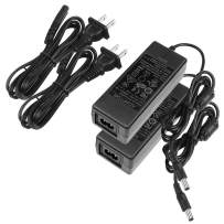 LE Power Adapter, UL Listed, 3A, 120V AC to 12V DC Transformer, 36W Power Supply, US Plug Power Converter for LED Strip Light and More, Pack of 2