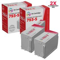 LD Compatible Ink Cartridge Replacement for Pitney Bowes 793-5 (Fluorescent Red, 2-Pack)
