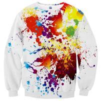 Hgvoetty Unisex Ugly Christmas Sweatshirt 3D Graphic Crew Neck Funny Xmas Sweater
