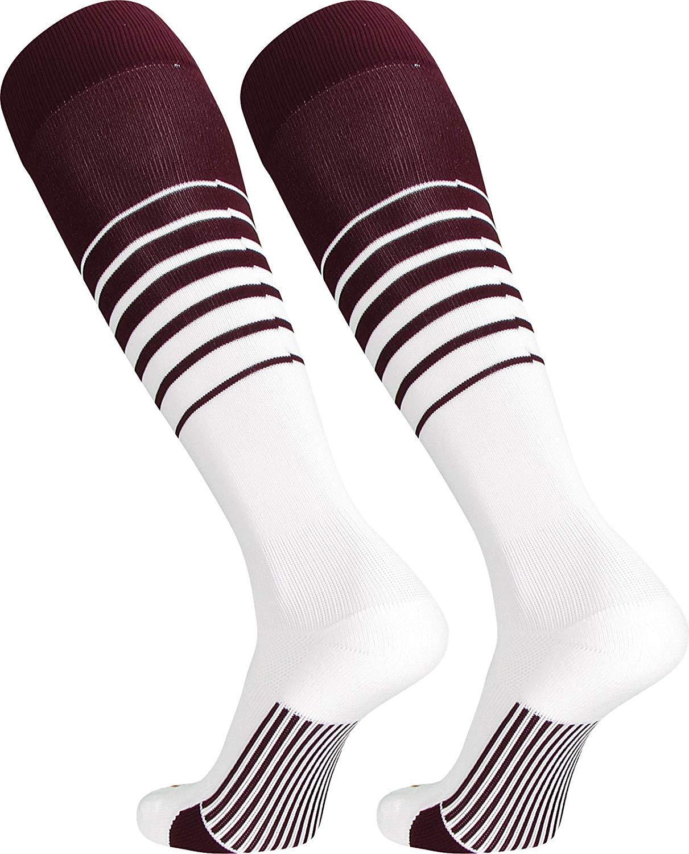 TCK Sports Elite Breaker Soccer Socks with Extra Cross-Stretch for Shin Guards (Multiple Colors)