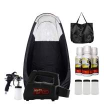 MaxiMist Lite Plus Pro HVLP Sunless Spray Tanning KIT Tent, Machine and Sunless Solution (Black)