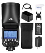 Godox V1-S Round Head Camera Flash TTL 2.4G HSS Speedlite with Li-ion Battery for Sony DSLR Camera