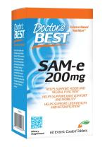 Doctor's Best SAM-e Mood & Joint Support & Liver Health (Pharmaceutical Grade/Non-GMO/Gluten Free/Vegetarian), 60 Count (Pack of 1)