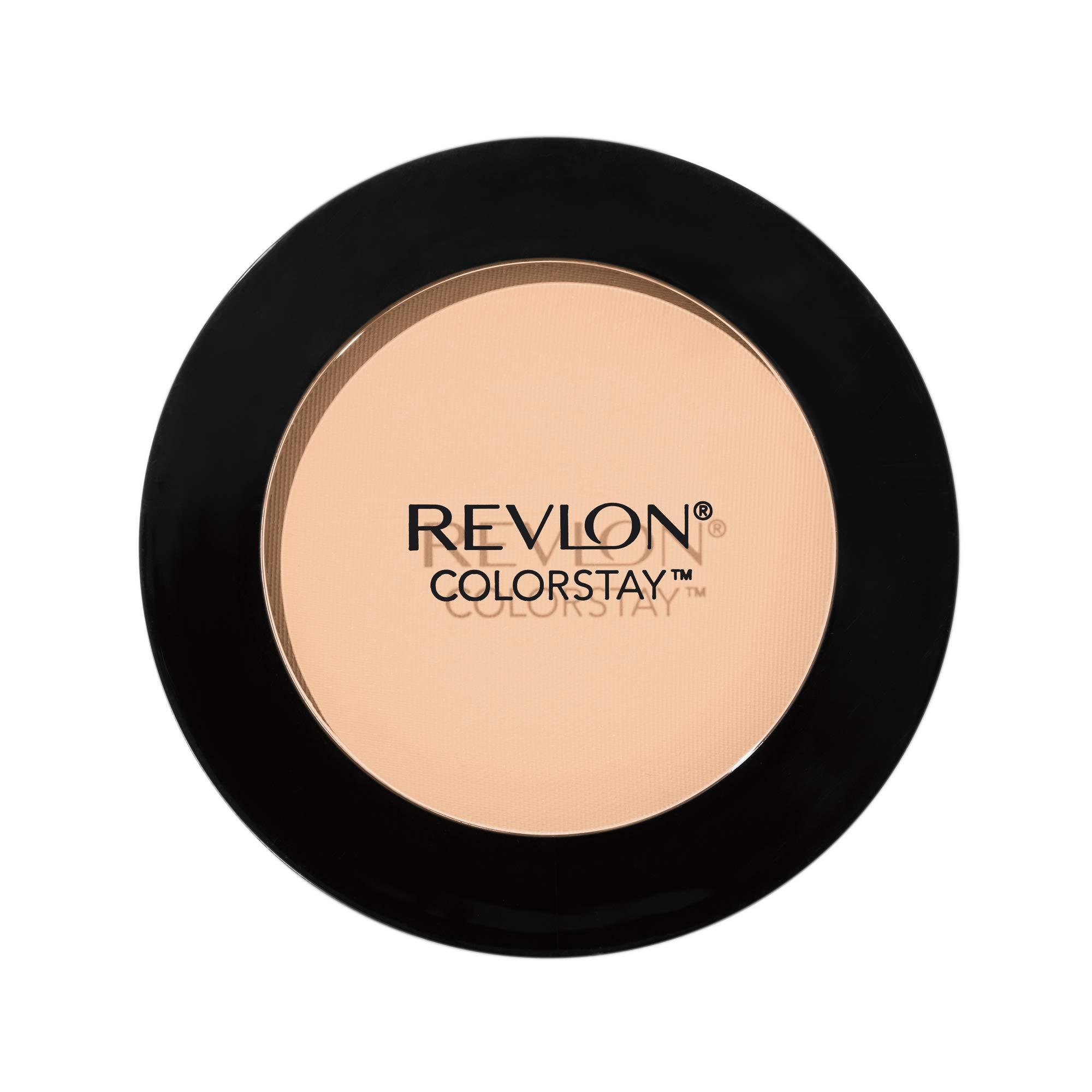 Revlon ColorStay Pressed Powder, Longwearing Oil Free, Fragrance Free, Noncomedogenic, 100 Banana, 0.30 oz