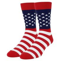 HAPPYPOP Men's USA Flag Dollar Sign Socks Cool Fun Patriotic American Style Gift