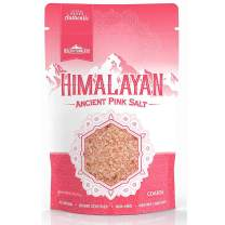 Premium Himalayan Pink Coarse Salt, Resealable 1 lb. Bag - Perfect for Salt Grinders and Mills - 100% Pure, Kosher, Non-GMO, No MSG, Rich in Trace Minerals - 1 Pound (16 Ounces)