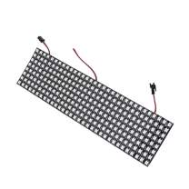 BTF-LIGHTING WS2812B RGB 5050SMD Individually Addressable Digital 8x32 256 Pixels 12.5in x 3.1in LED Matrix Flexible FPCB Full Color Works with K-1000C,etc Controllers Image Video Text Display DC5V