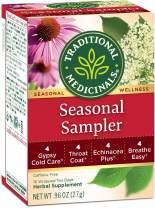 Traditional Medicinals Seasonal Herb Tea Sampler, 16 Tea Bags (Pack of 6)