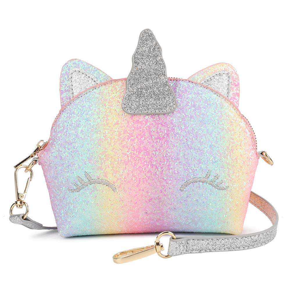 Mibasies Kids Unicorn Purse for Little Girls Toddlers Crossbody Bag