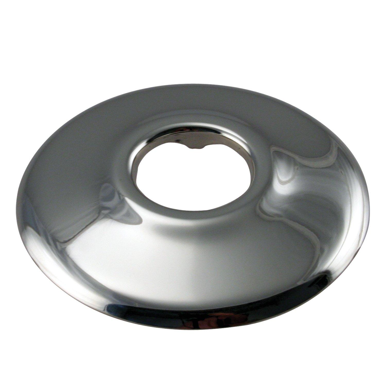 "Westbrass D129-05 1/2"" IPS Low Pattern Sure Grip Flange, Polished Nickel"