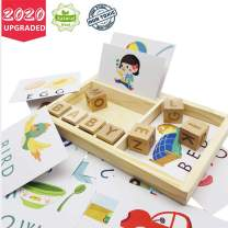 HEY AVA Spelleling Games-Letter Matching Card Games-Preschool Learning Toys,Help Develops Alphabet Words Spelling Skills Letter Block
