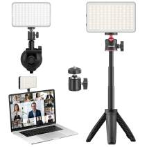 Video Conference Lighting Kit with Tripod Stand, Compatible with Macbook/Laptop/Desktop etc, Adjustable 3200-6500K Color Temperature Zoom Meeting/Facetime/Online Education/Live Streaming Filling Light