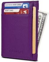 KALMORE Unisex-Adult's Petite Credit Card Holder Leather Slim Minimalist Wallet