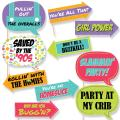 Funny 90's Throwback - 1990s Party Photo Booth Props Kit - 10 Piece
