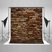Kate 5x7ft Vintage Brick Wall Photo Backdrop Brown Brick Wall Background Photo Shoot Studio Props