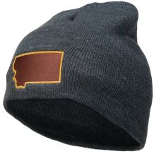 e4Hats.com Montana State Map Embroidered Short Beanie