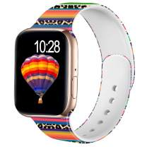 Adorve Compatible with Apple Watch Band 42mm 44mm iWatch SE & Series 6 & Series 5 4 3 2 1 for Women Womens, Rainbow Leopard S/M