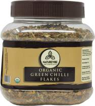 Naturevibe Botanicals Organic Green Chilli Flakes, 8 ounces | Non-GMO and Gluten Free | Adds Taste and Flavor....[Packaging may vary]
