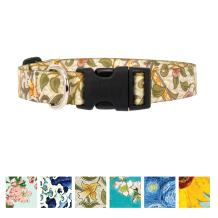 Buttonsmith Art Dog Collar - Fadeproof Printing, Military Grade Buckle - Made in The USA