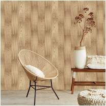 HaokHome 5035 Faux Wood Plank Wallpaper Peel Stick Wall Murals in Bathroom Kitchen Prepasted Contact Paper