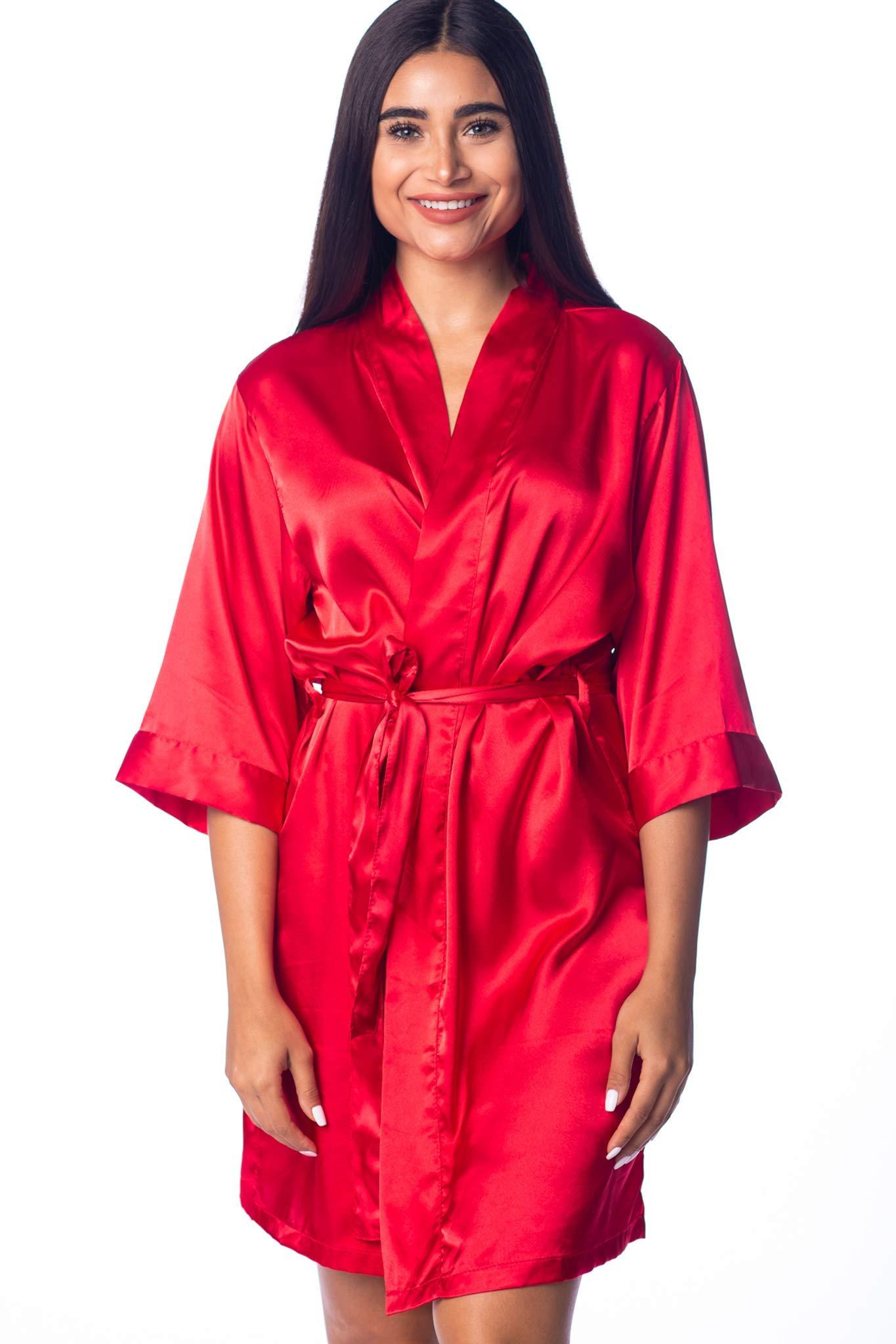 Women's Silk Satin Robe Bride Bridesmaid Sexy Robes for Women