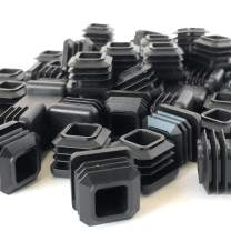 3/4 Inch Square Tubing End Cap (50 Pack) (14-20 Gauge for Thicker Wall Tubing) Plastic Plugs/Square End Caps/Plastic End Caps/Square Plug/Square Plastic Plug/by EZENDS … (50)