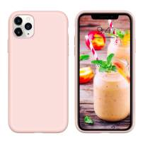 GUAGUA iPhone 11 Pro Max Case Liquid Silicone Soft Gel Rubber Slim Lightweight Microfiber Lining Cushion Texture Cover Shockproof Protective Phone Cases for iPhone 11 Pro Max 6.5-inch 2019 Pink