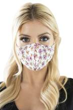 Reusable Fabric Face Mask Covering Unisex - Cute Print Cloth Washable Breathable Mouth Shield Protection Men Women