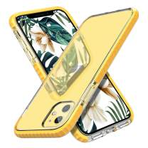 MATEPROX iPhone 11 Case Clear Thin Slim Crystal Transparent Cover Shockproof Bumper Case for iPhone 11 6.1(Yellow)