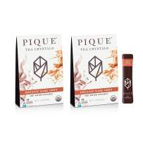 Pique Tea Organic Earl Grey Black Tea Crystals - Immune Support, Energy, Fasting - 28 Single Serve Sticks (Pack of 2)