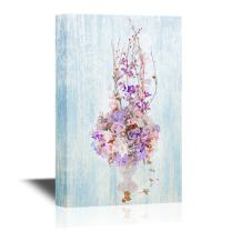 wall26 - Canvas Wall Art - Decoration Artificial Plastic Flower with Vintage Design - Gallery Wrap Modern Home Decor | Ready to Hang - 32x48 inches