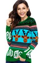 Christmas Ho Reindeer Festive Holiday Sweater Women Juniors 3D Funny Ugly Santa Snowman Knitted Pullover Sweatshirt