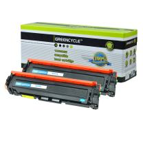 GREENCYCLE 2PK Compatible for HP 410A CF411A Cyan Toner Cartridge Replacement for Color Laserjet Pro M452dw M452nw M452dn MFP M477fnw M477fdn M477fdw Printer
