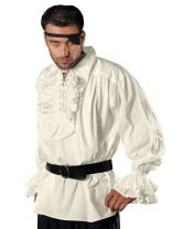 ThePirateDressing Medieval Poet's Captain Charles Vane Cosplay Costume Pirate Shirt