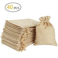 Burlap Bags 5 x 4 Inch with Drawstring -Natural Linen Bag Gift Bags Jewelry Sacks Strong Small Jute Bag for Festivals, DIY Craft, Present, Party Favors, Snacks,Jewelry and Anniversaries