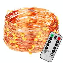 FAST DEER 2 Pack 50Feet 150 Led Fairy Lights Battery Operated with Remote Control Timer Waterproof 8 Modes for Bedroom Indoor Outdoor Wedding Garden Parties (Warm White)