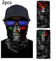 Bandana Face Mask Neck Gaiter Motorcycle Tube Headwear Cover for Women Men Scarf