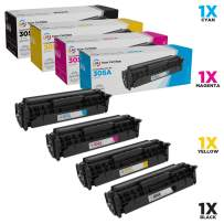LD Remanufactured Toner Cartridge Replacements for HP 305A & 305X High Yield (1 Black, 1 Cyan, 1 Magenta, 1 Yellow, 4-Pack)