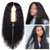 Water Wave 150% Density Curly Lace Front Wigs Human Hair with Baby Hair 13x4 Pre Plucked Wet and Wavy Virgin Vshow Hair Lace Wigs 18 Inches for Black Women Free Part