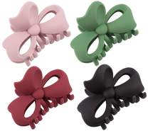 Boobeen 4 Pack Big Hair Claw - Hollow Butterfly Hair Claw Clip - Nonslip Large Claw Clip for Women and Girls Thin Hair, Strong Hold for Thick Hair
