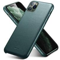 """ESR Premium Real Leather Case Compatible with iPhone iPhone 11 Pro - Slim Full Leather Phone Case [Supports Wireless Charging] [Scratch-Resistant] Protective Case for iPhone 11 Pro 5.8"""" 2019 - Green"""