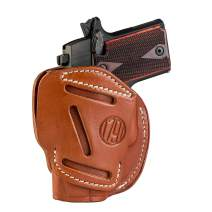 1791 GUNLEATHER 3-Way SIG P365 Holster - OWB CCW Holster Ambidextrous - Right or Left Handed Leather Gun Holster - Fits Sig Sauer P365, Ruger LCP 380, SW Bodyguard