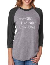 A Girl Has No Costume - Funny Halloween 3/4 Women Sleeve Baseball Jersey Shirt