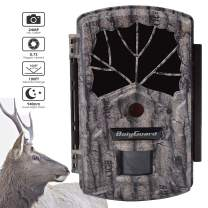 """Hunting Trail Camera,2"""" LCD Digital Infrared Surveillance Camera 24MP 1080P Waterproof Scouting Game Camera for Wildlife Monitoring with No Glow Invisible IR Up to 100ft Detection Range Records Sounds"""