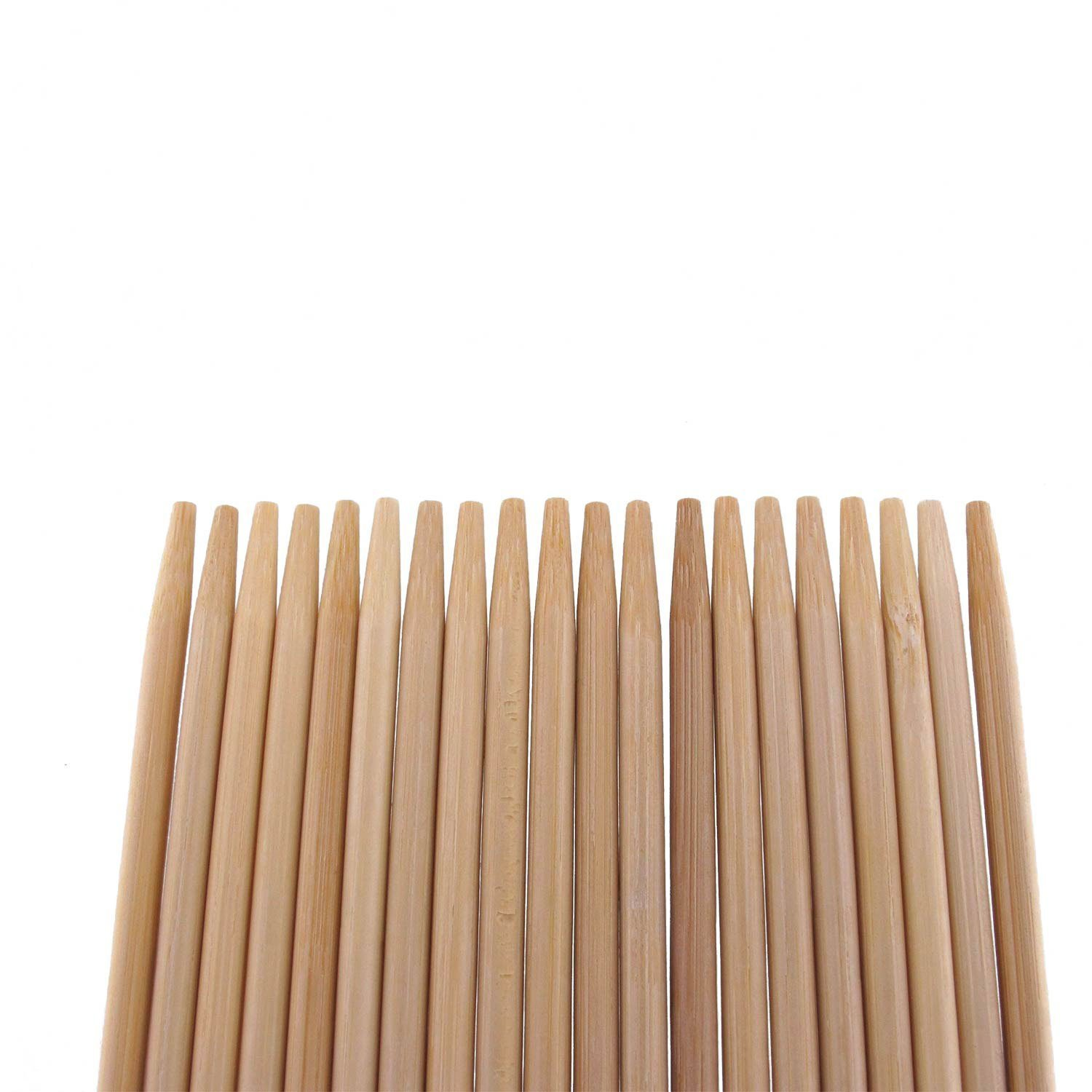 """BambooMN Premium 15"""" Inch (1.25ft) Long 5mm Thick Safe Multipurpose Tornado Twist Potato Bamboo Skewers, 100 Pieces Perfect for Camping or Outdoor Party, Garden Sticks"""
