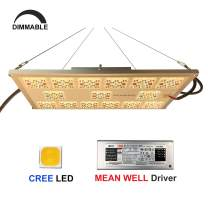 Upgraded Full Spectrum LED Grow Light, Lenofocus MX1200 Dimmable LED Indoor Plant Grow Light Board CREE LEDs Meanwell Driver Hydroponic Growing Lamp Panel for Indoor Plants Seedling Veg Flowering